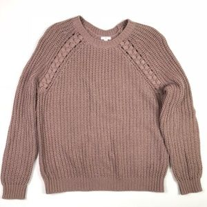 BP. Chunky Pullover Oversized Taupe Sweater